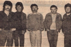 1983 - Pat Farrell, Dave Murphy, Tommy Moore, Don Baker and Davey White