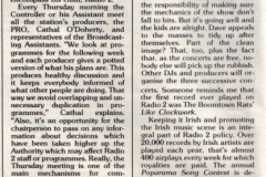 1984 RTE Guide - The Business live at Trinity College, Dublin
