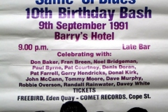 1991 - 10th Birthday Bash Poster