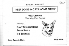 1991 - Cats and Dogs home benefit ticket