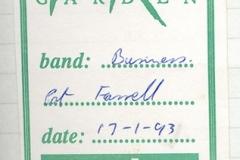 1991 - Pat Farrell Rock Garden Pass